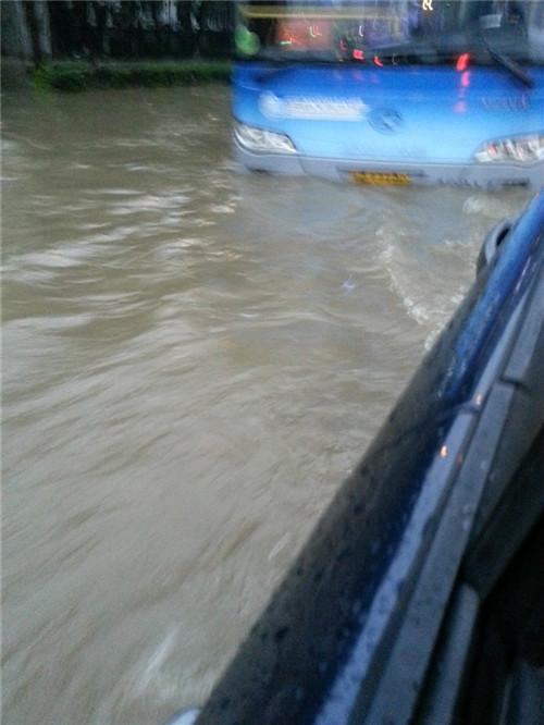 二手车车型推荐 台风入境 神行者2冲过积水路的记录4